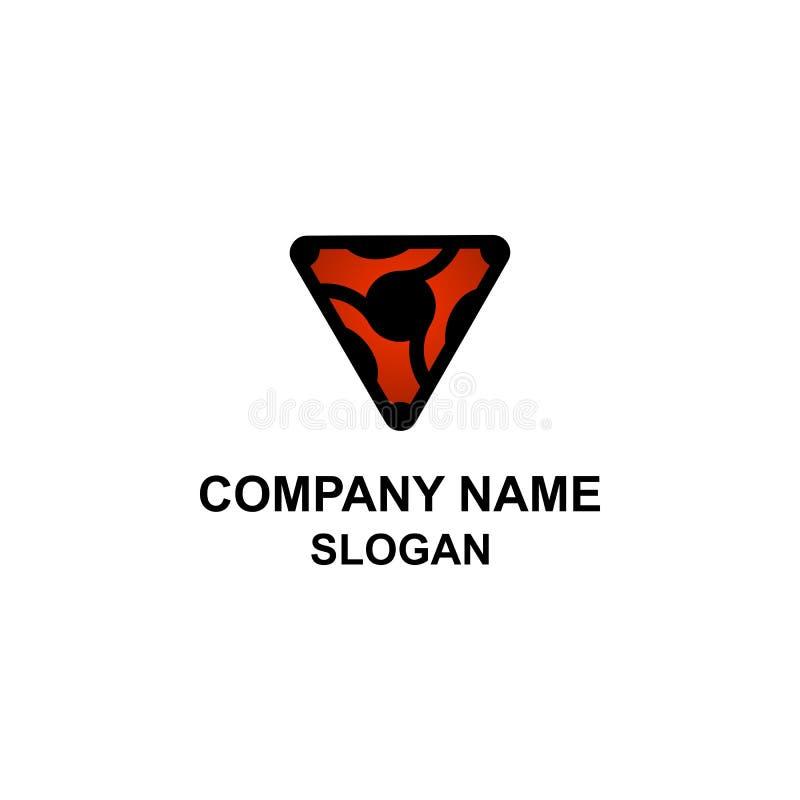 Logotipo motivo de la mariquita abstracta del triángulo ilustración del vector
