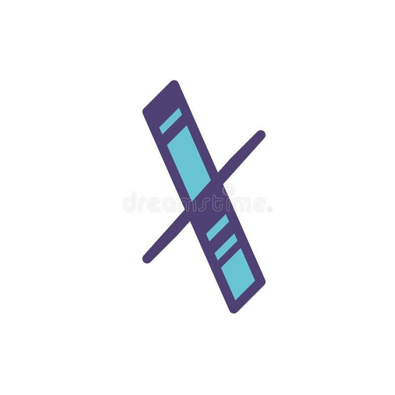 Logotipo, muestra de la letra X Vector Linear, icono del esquema Isometry, 3D Letra plana capital coloreada Compañía de la marca  stock de ilustración