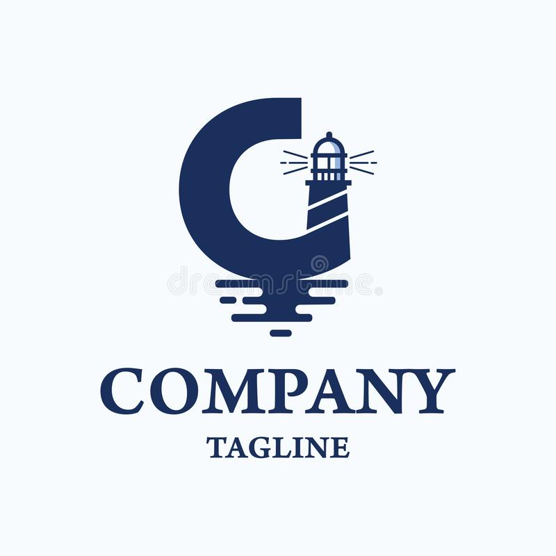 Logotipo náutico de la academia stock de ilustración