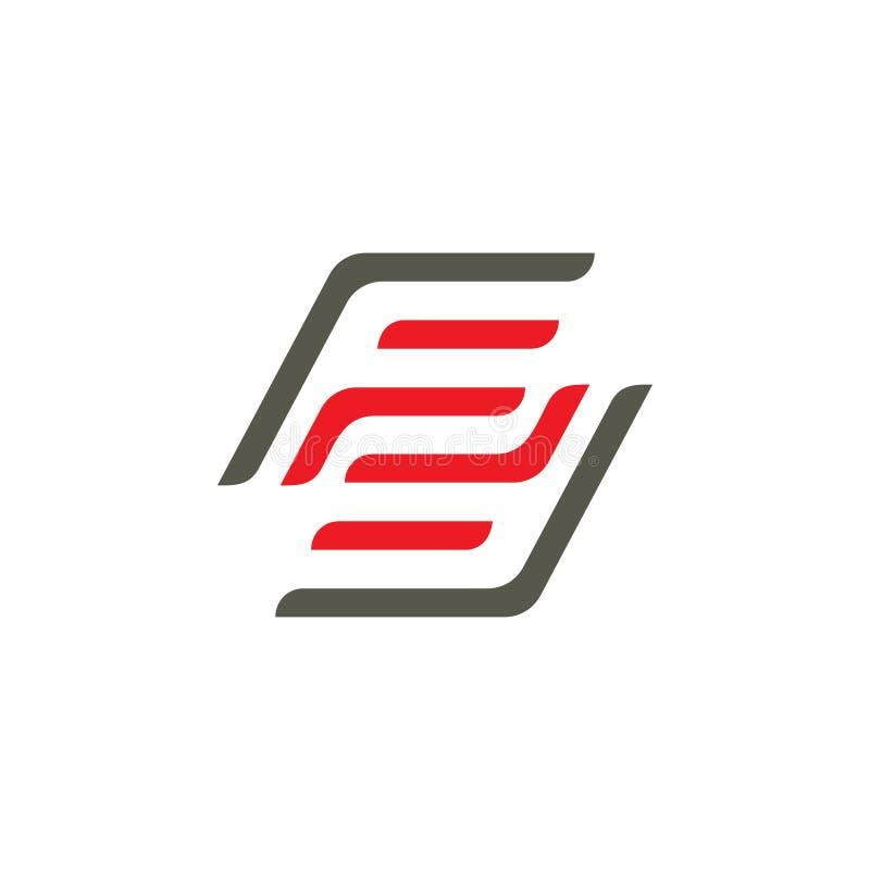 Logotipo número 2 del cuadrado del FF de la letra imágenes de archivo libres de regalías
