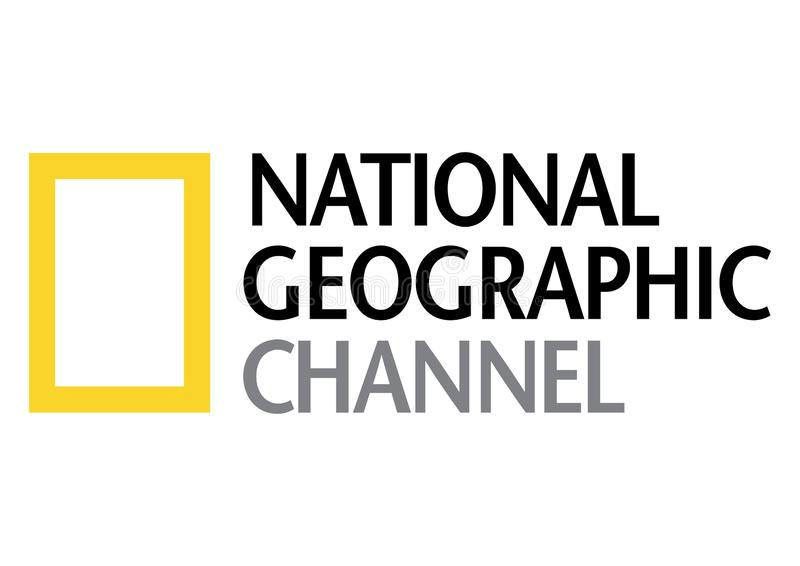 Logotipo nacional del canal geogr?fico libre illustration