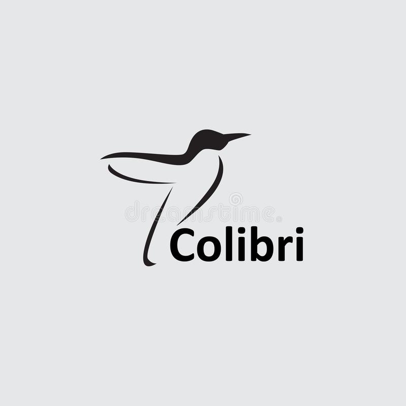 Logotipo negativo del espacio de Colibri libre illustration