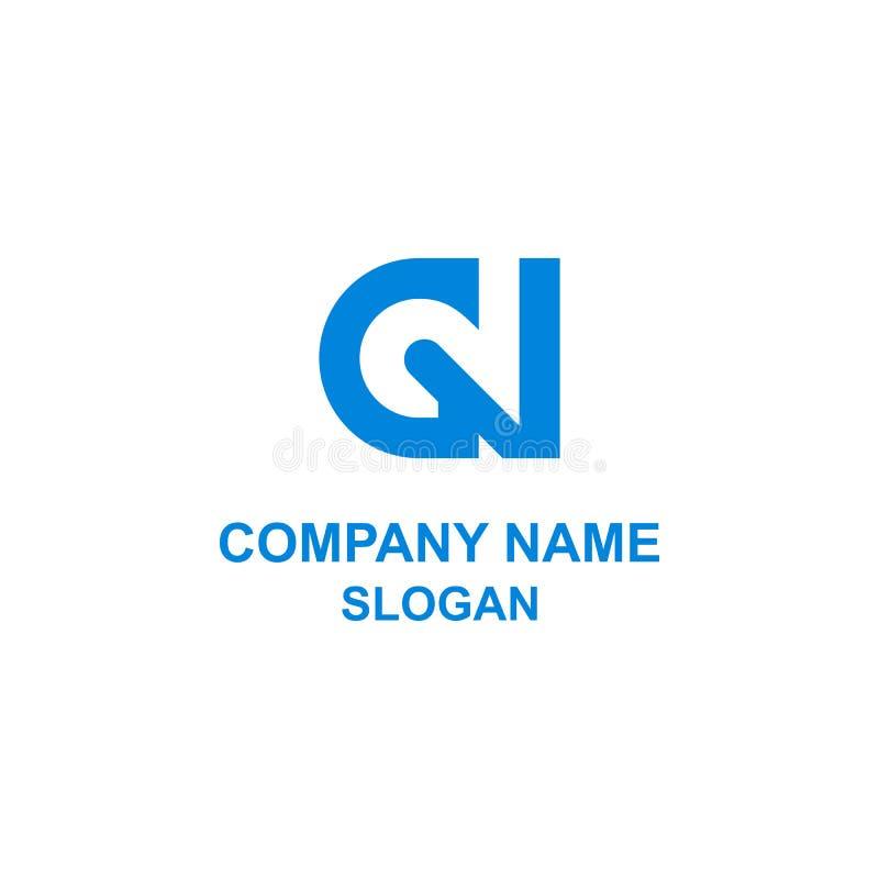 Logotipo negativo del espacio de la letra inicial G2 libre illustration