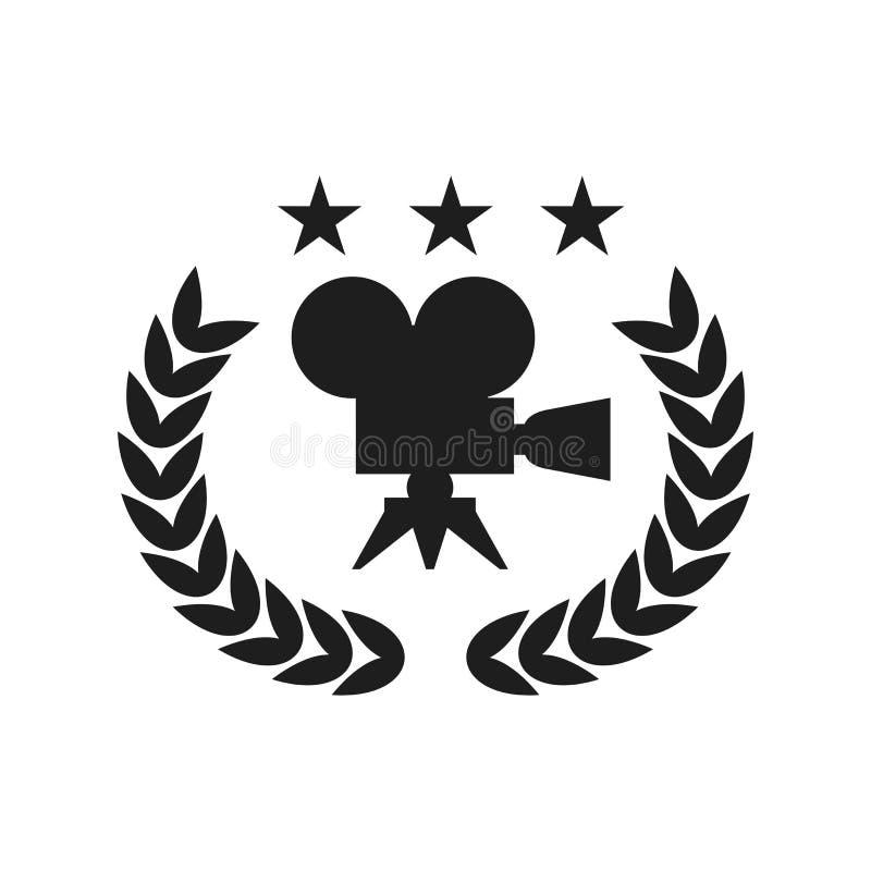 Logotipo negro del festival de cine ilustración del vector