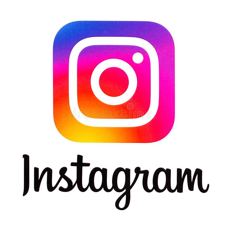 Logotipo novo de Instagram fotografia de stock royalty free