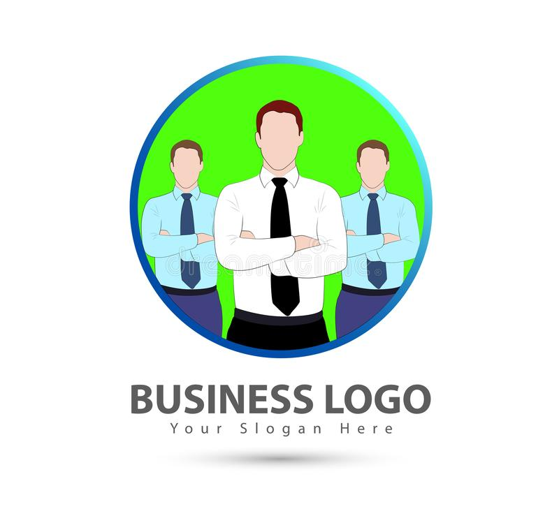 Logotipo novo do pessoal do homem de negócios dos trabalhos de equipe, ícone da parceria - para o estoque ilustração do vetor