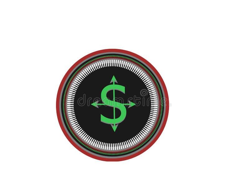 Logotipo novo para o negócio da moeda do mundo ilustração stock