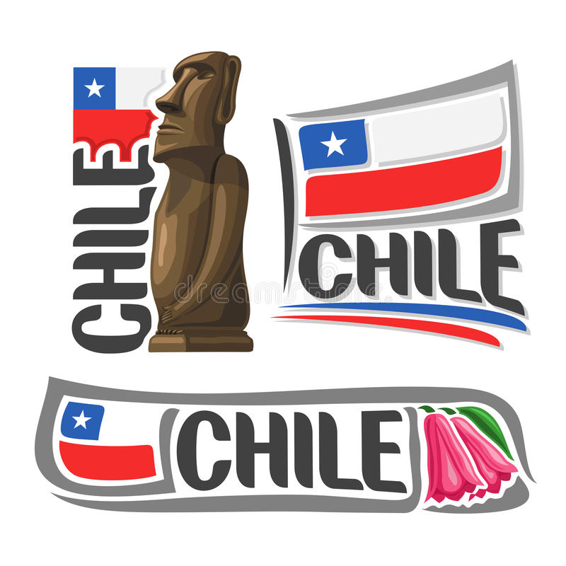 Logotipo o Chile do vetor ilustração royalty free