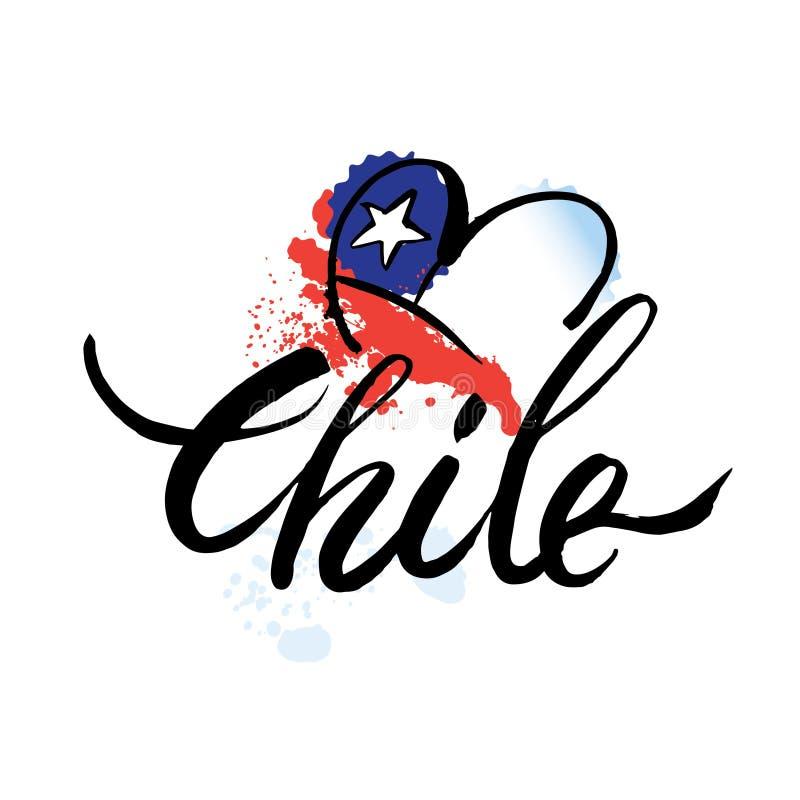 Logotipo o Chile do vetor, ilustração do vetor