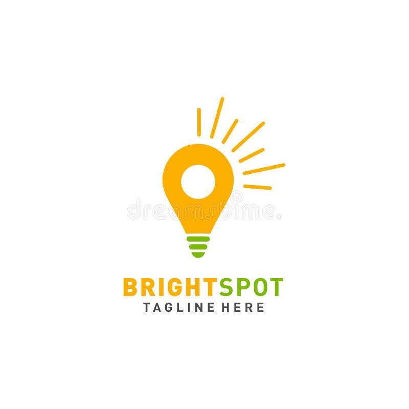 Logotipo o ejemplo brillante del punto para el negocio ilustración del vector