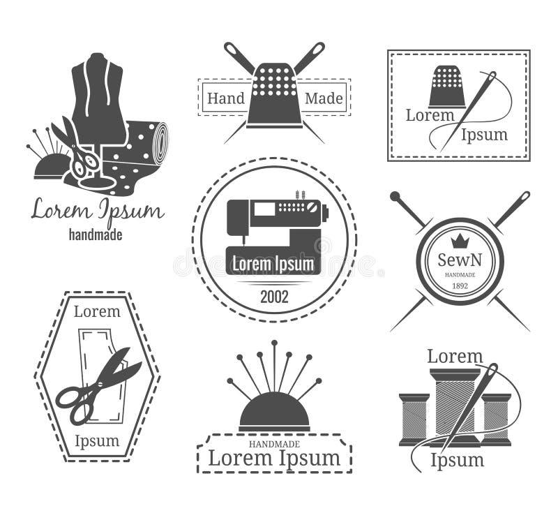 Logotipo o insignias del sastre del vintage libre illustration