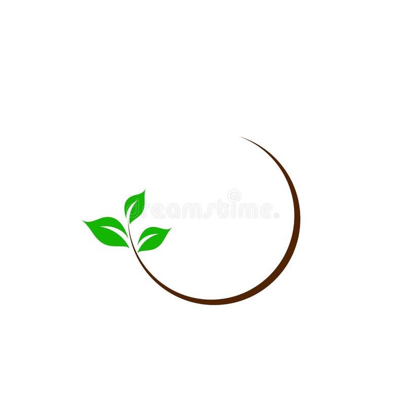 Logotipo orgánico de la hoja stock de ilustración