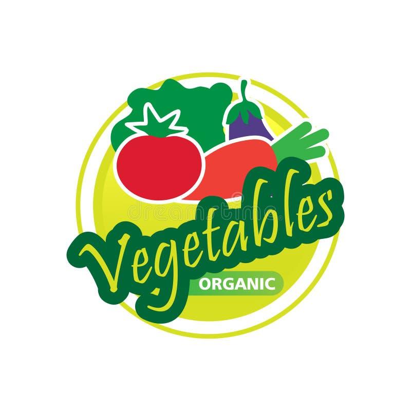 Logotipo orgánico de las verduras stock de ilustración