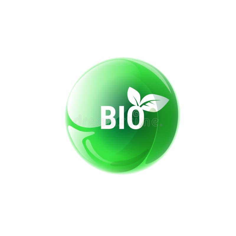 Download Logotipo Orgânico Amigável Do Verde Do ícone Da Web Do Produto Natural De Eco Ilustração do Vetor - Ilustração de ícone, ecological: 80102374
