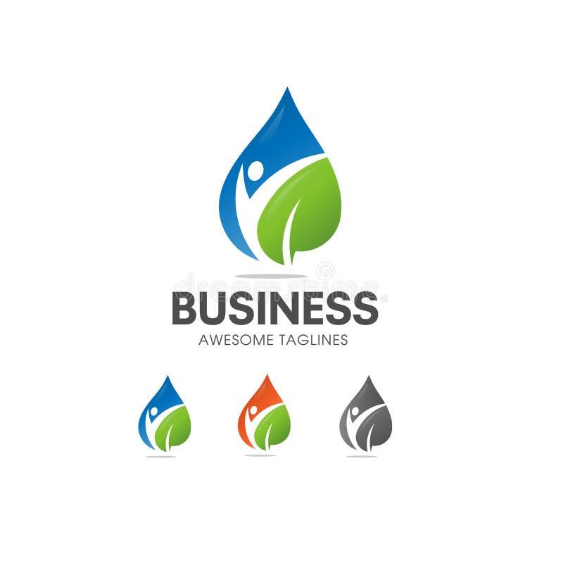 Logotipo orgânico da nutrição e da dieta do alimento natural ilustração stock