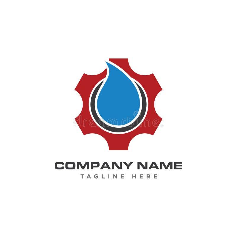 Logotipo original automotivo do ícone da engrenagem do círculo imagem de stock