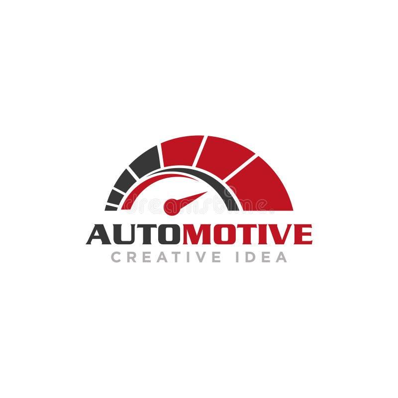 Logotipo original automotivo do ícone da engrenagem do círculo fotografia de stock royalty free