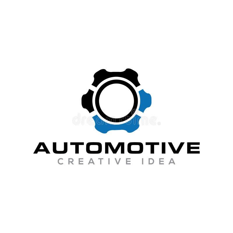 Logotipo original automotivo do ícone da engrenagem do círculo imagem de stock royalty free