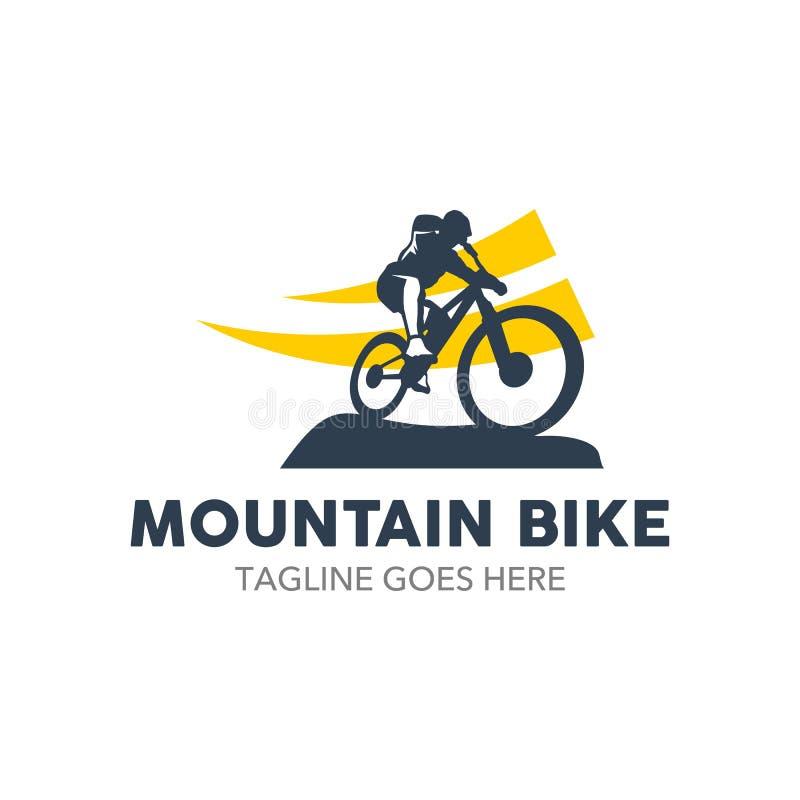 Logotipo original da ilustração do Mountain bike ilustração do vetor