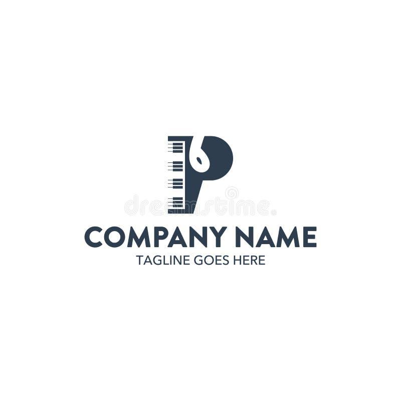 Logotipo original da música ilustração stock