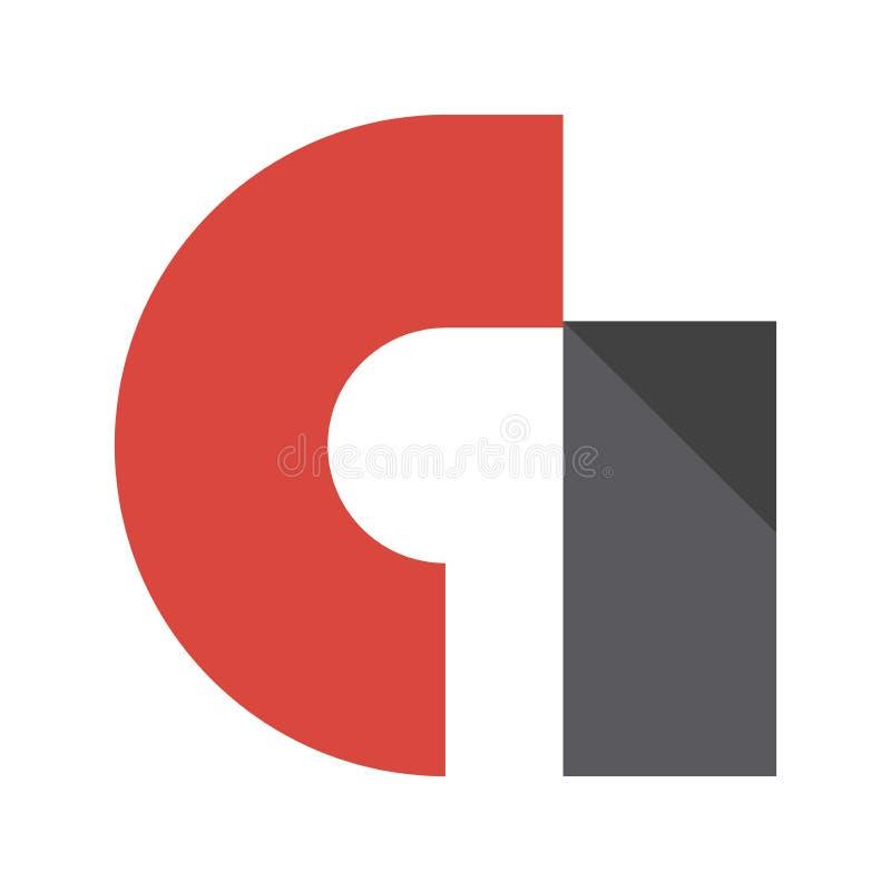 Logotipo original del admob para el publicista y el editor stock de ilustración