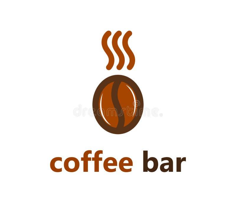 Logotipo ou ícone do feijão de café ilustração stock