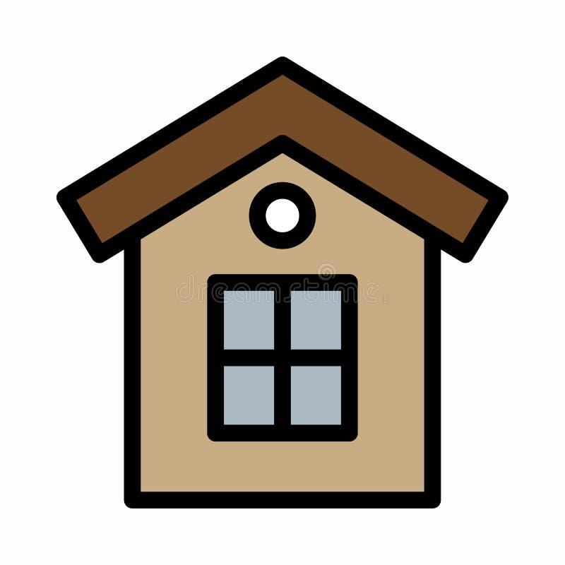 Logotipo ou ilustra??o do vetor do ?cone da casa ilustração do vetor