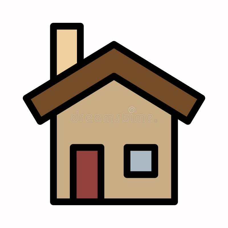 Logotipo ou ilustra??o do vetor do ?cone da casa ilustração stock
