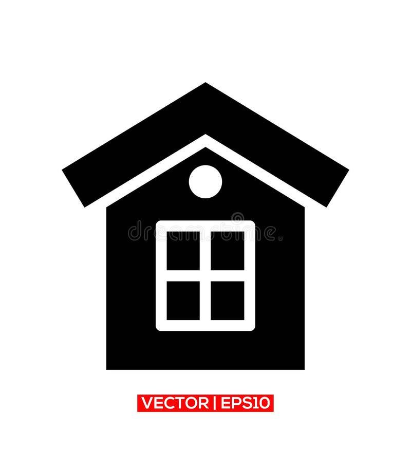 Logotipo ou ilustra??o do vetor do ?cone da casa ilustração royalty free
