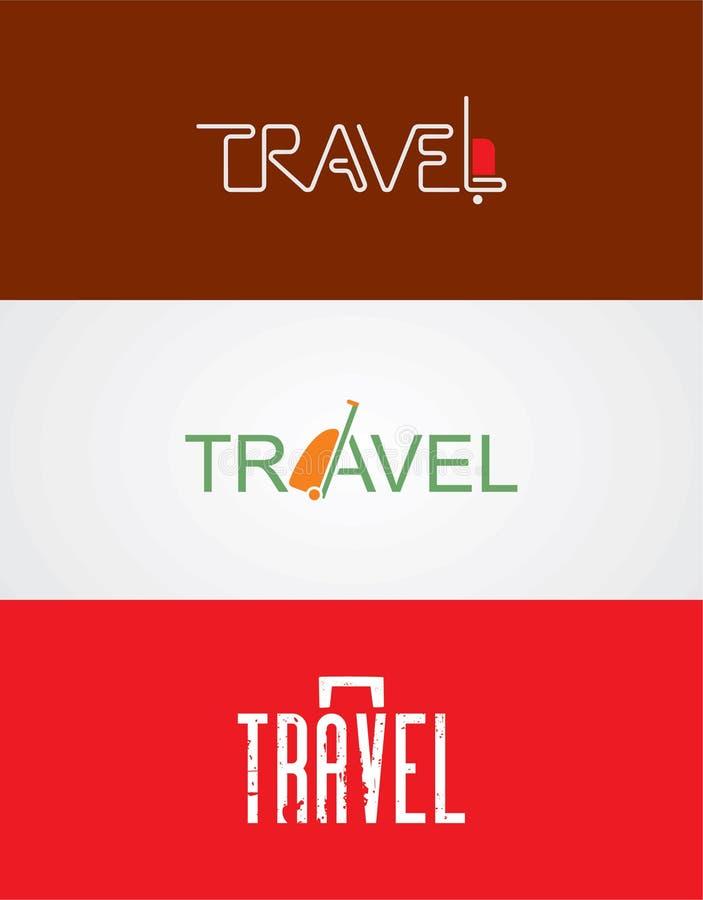 Logotipo para a agência de viagens ilustração stock