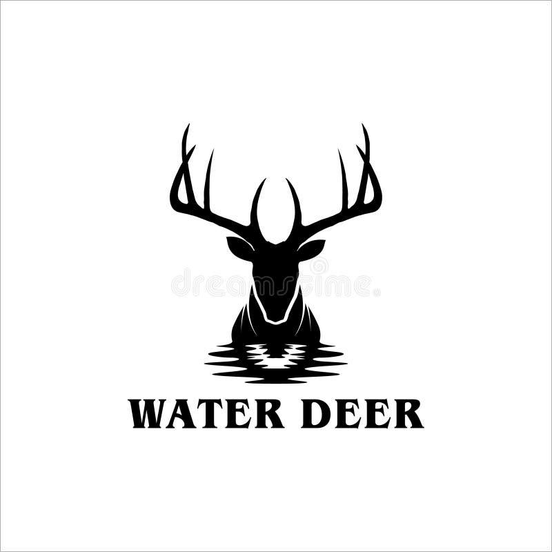 Logotipo para a caça e a aventura ilustração royalty free