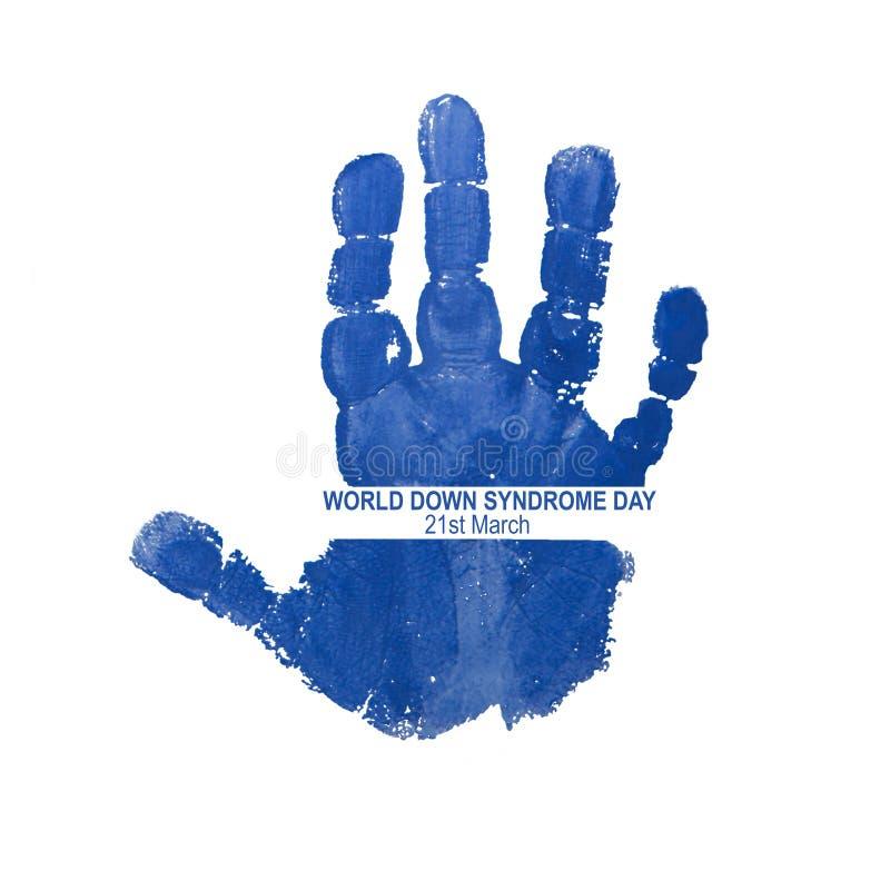 Logotipo para el día de Síndrome de Down del mundo foto de archivo libre de regalías