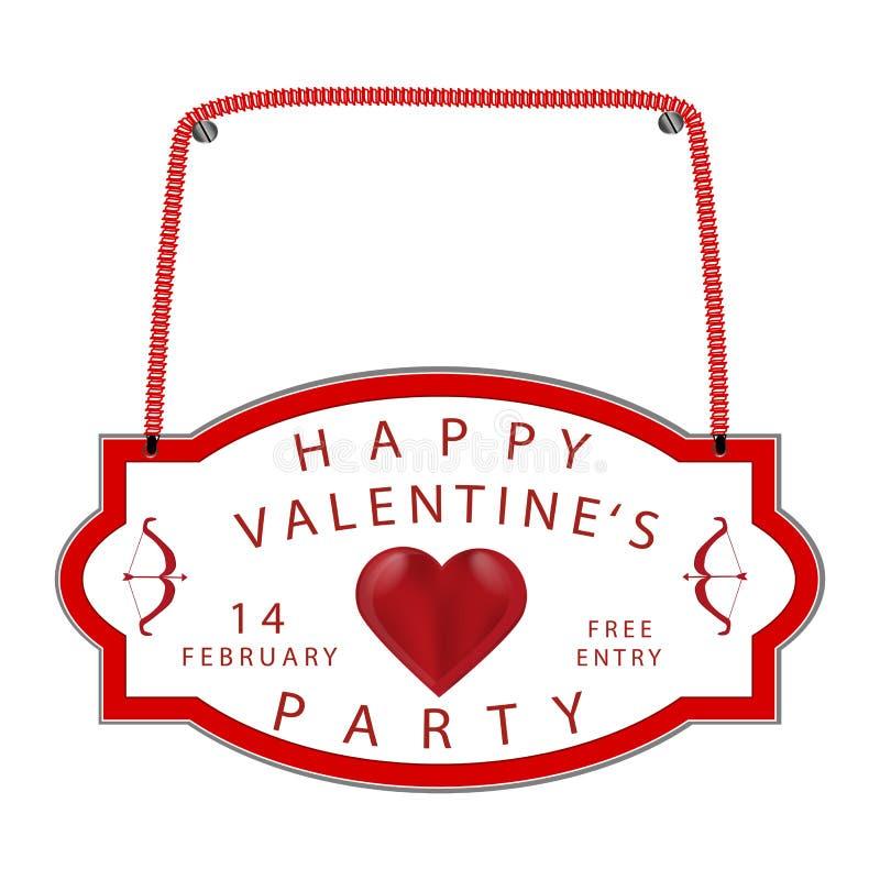Logotipo para el día del ` s de la tarjeta del día de San Valentín del St del día de fiesta de la celebración ilustración del vector