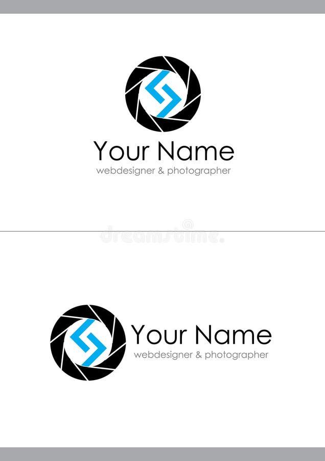 Logotipo para el diseñador web o el fotógrafo stock de ilustración