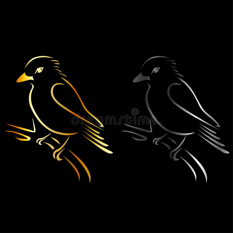 Logotipo para el negocio exótico del pájaro libre illustration