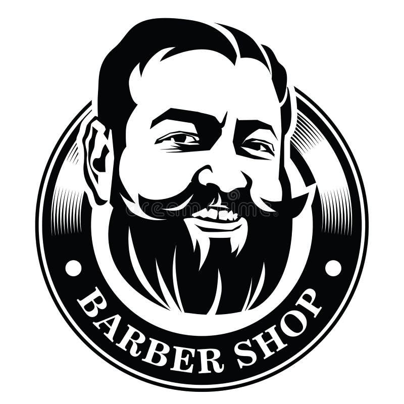 Logotipo para el peluquero ilustración del vector