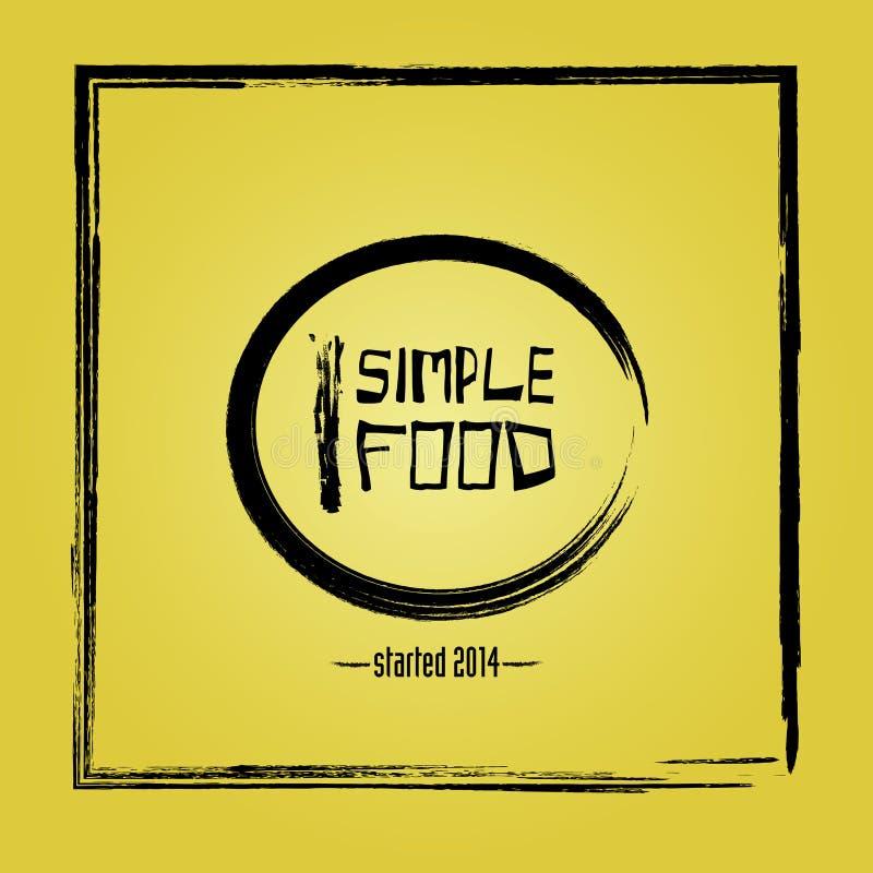 Logotipo para el restaurante imagen de archivo libre de regalías
