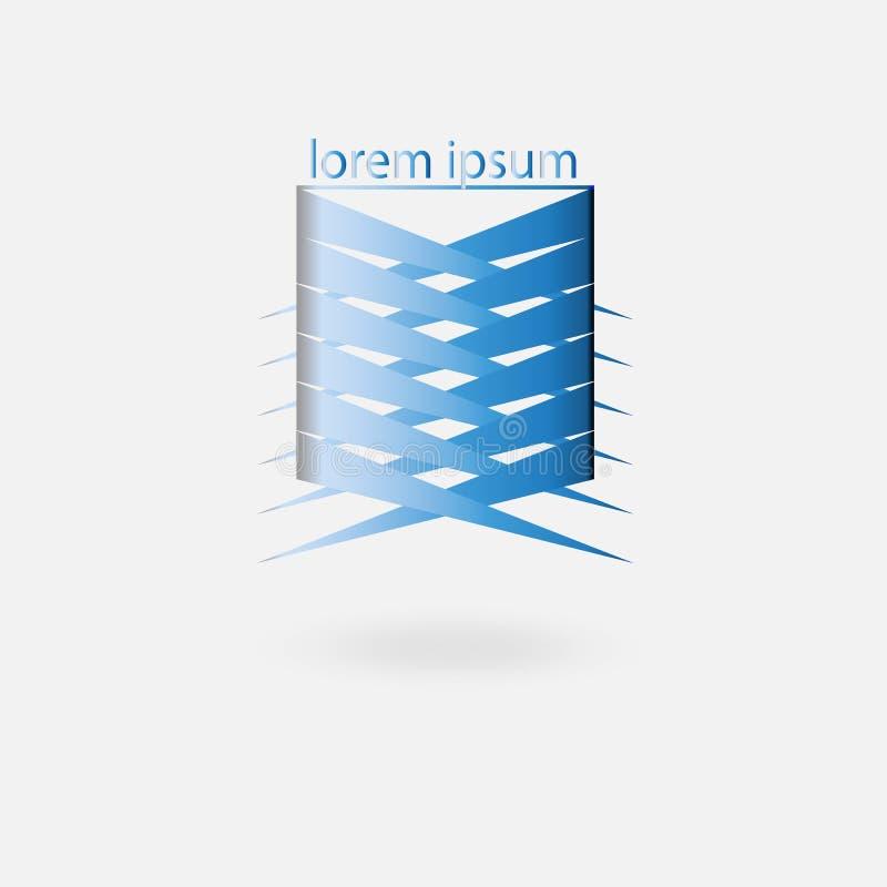 Logotipo para a empresa, a coesão e a proteção ilustração do vetor