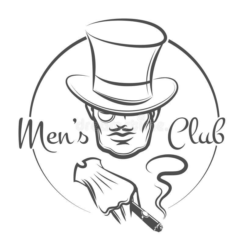 Logotipo para hombre del club ilustración del vector