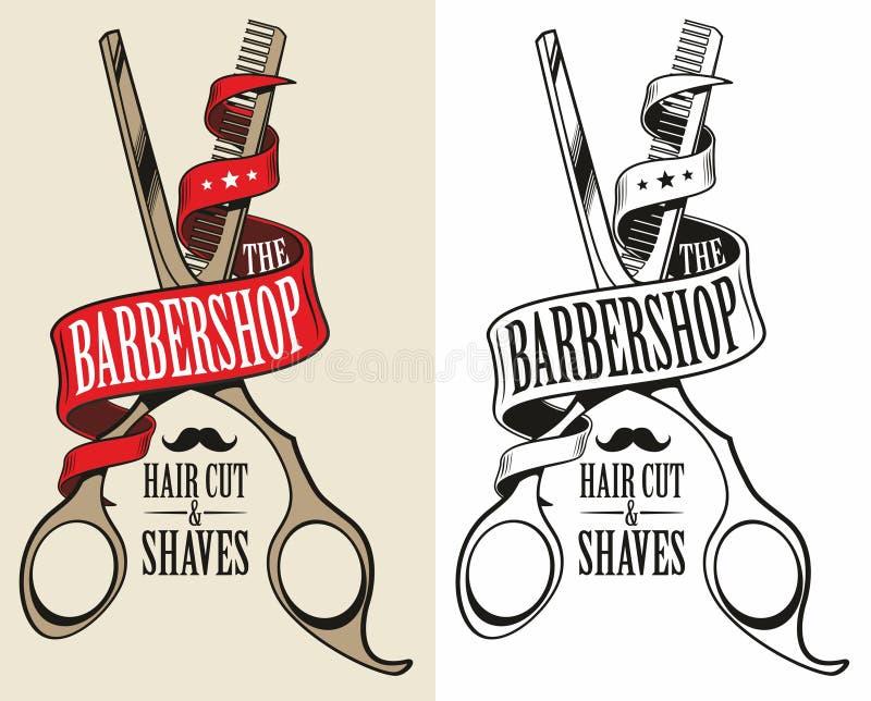 Logotipo para la barbería libre illustration