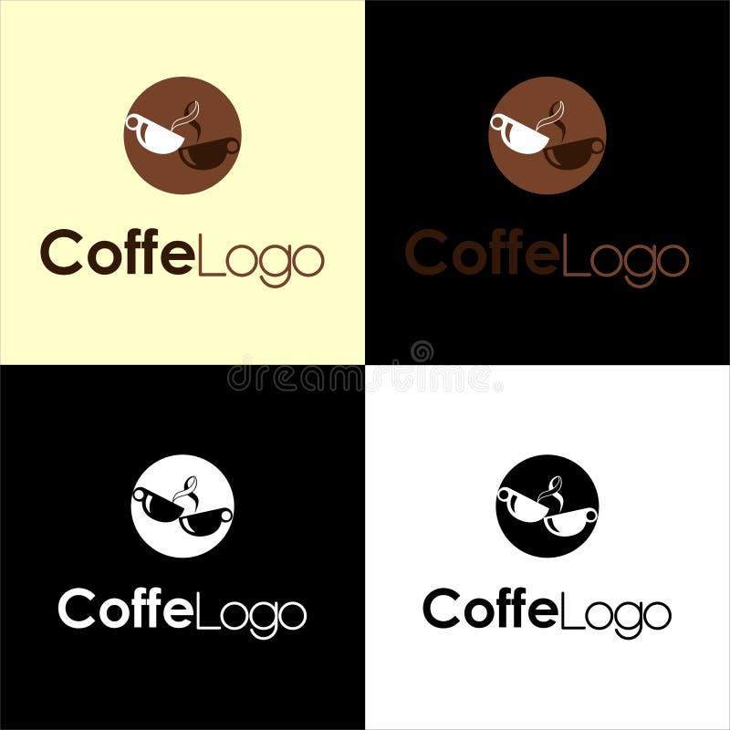 Logotipo para los arquitectos y los negocios de la propiedad, con formas rectangulares, y verde, colores grises ilustración del vector