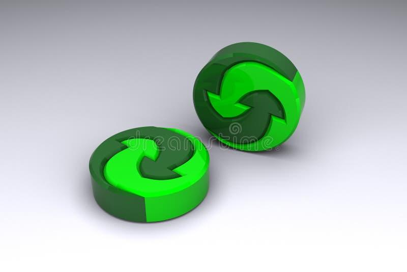 Logotipo para materiais recyclable ilustração do vetor