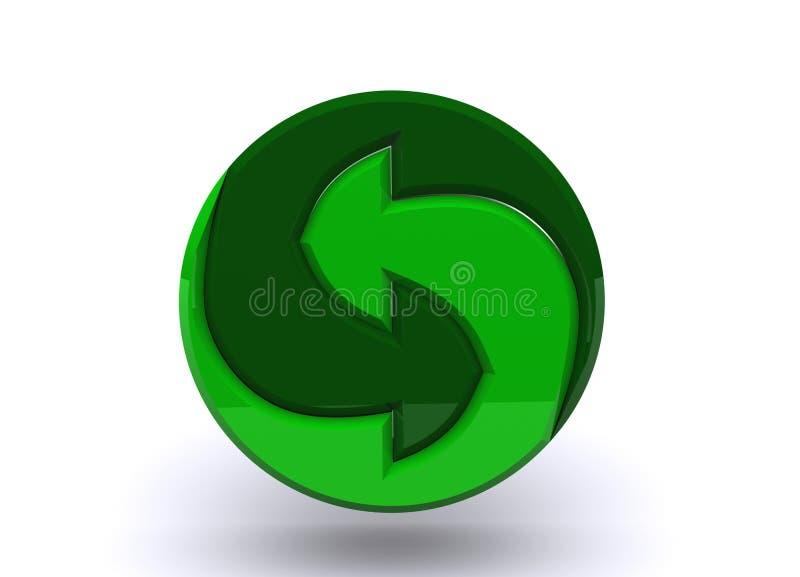 Logotipo para materiais recyclable ilustração royalty free