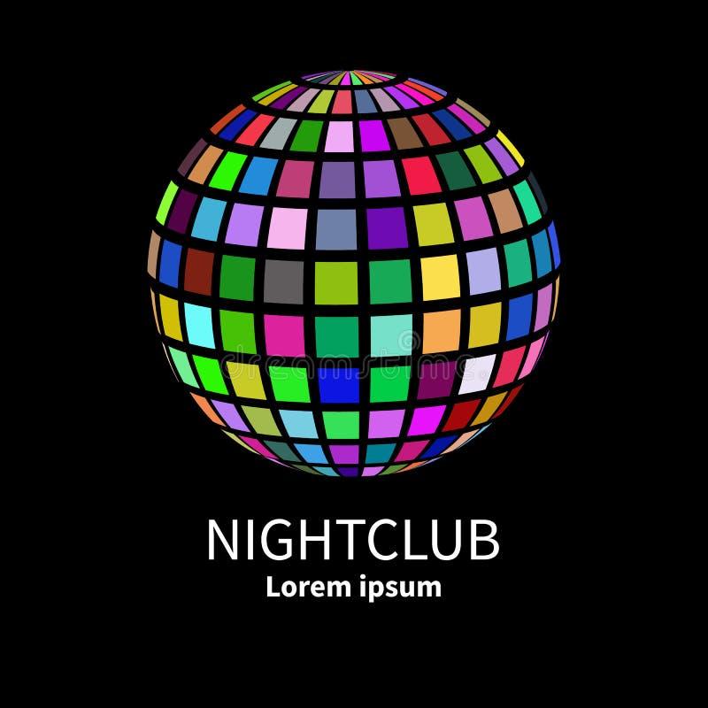 Logotipo para o clube noturno ilustração stock