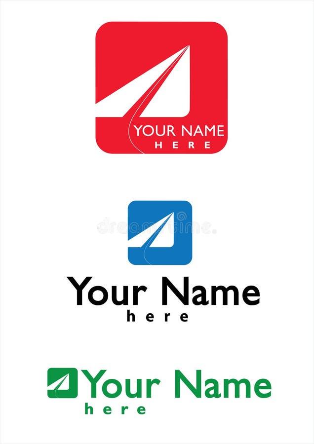 Logotipo para o negócio do correio, do curso e do Aviaton ilustração do vetor