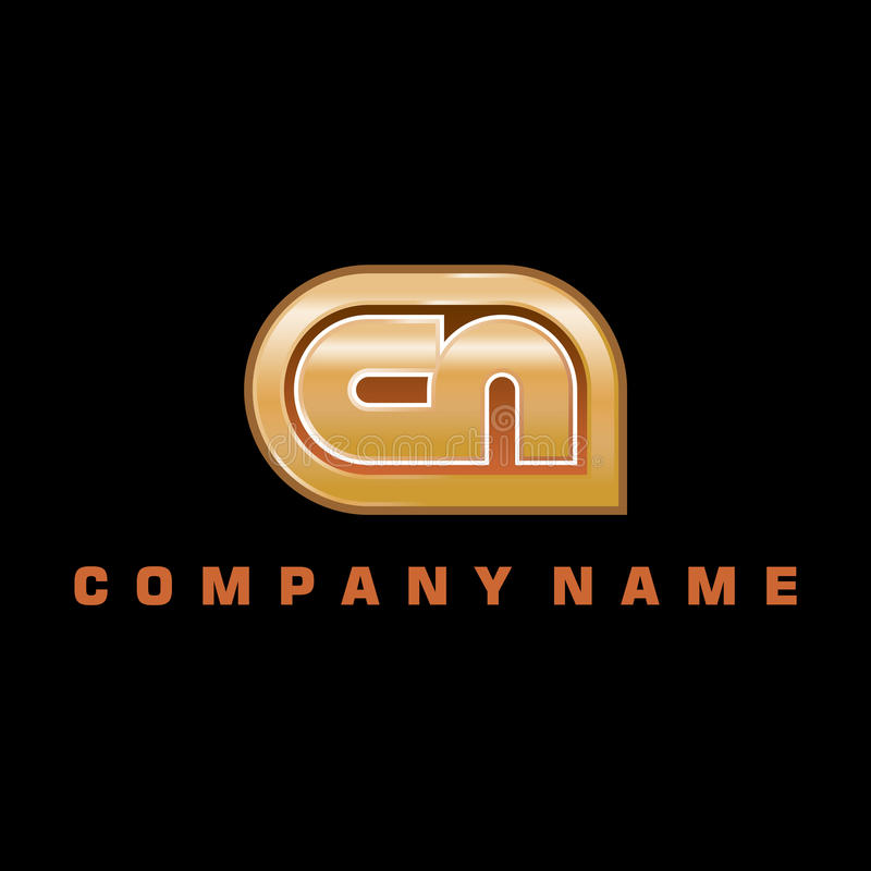 Logotipo para o universal/Global Empresa imagem de stock