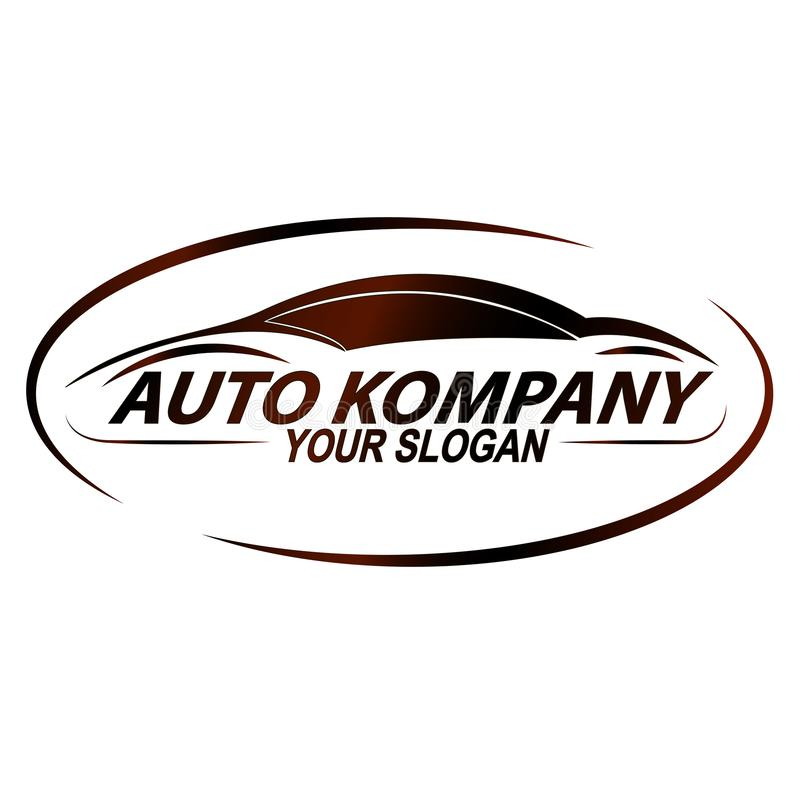 Logotipo para a oficina de reparações do carro ilustração royalty free