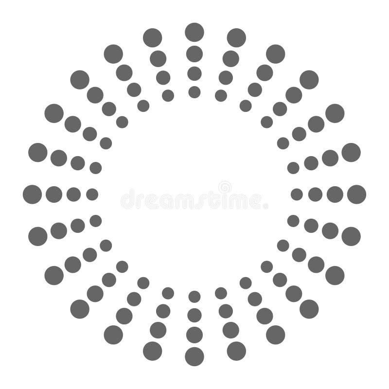 Logotipo para seus pontos do tipo nos círculos ilustração stock