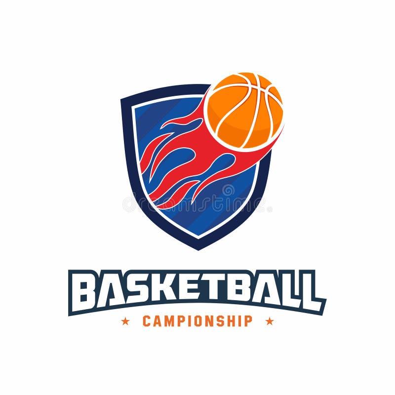 Logotipo para um campeonato do basquetebol imagem de stock