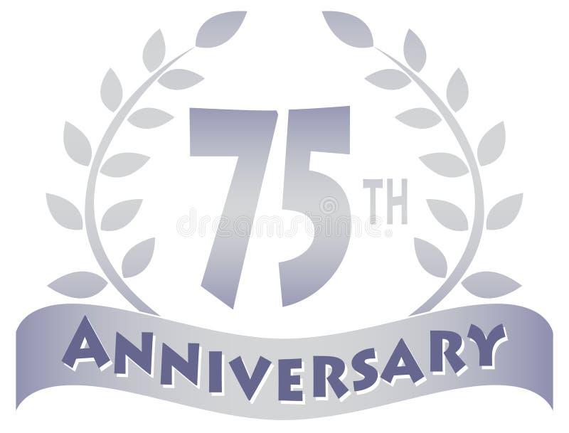 Setenta-Quinta bandera del aniversario ilustración del vector